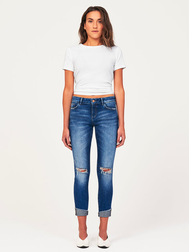 Florence Crop Mid Rise Skinny | Harbor DL 1961 Denim