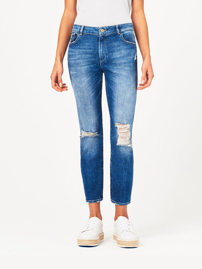 Stevie Mid Rise Slim Boyfriend | Rebel