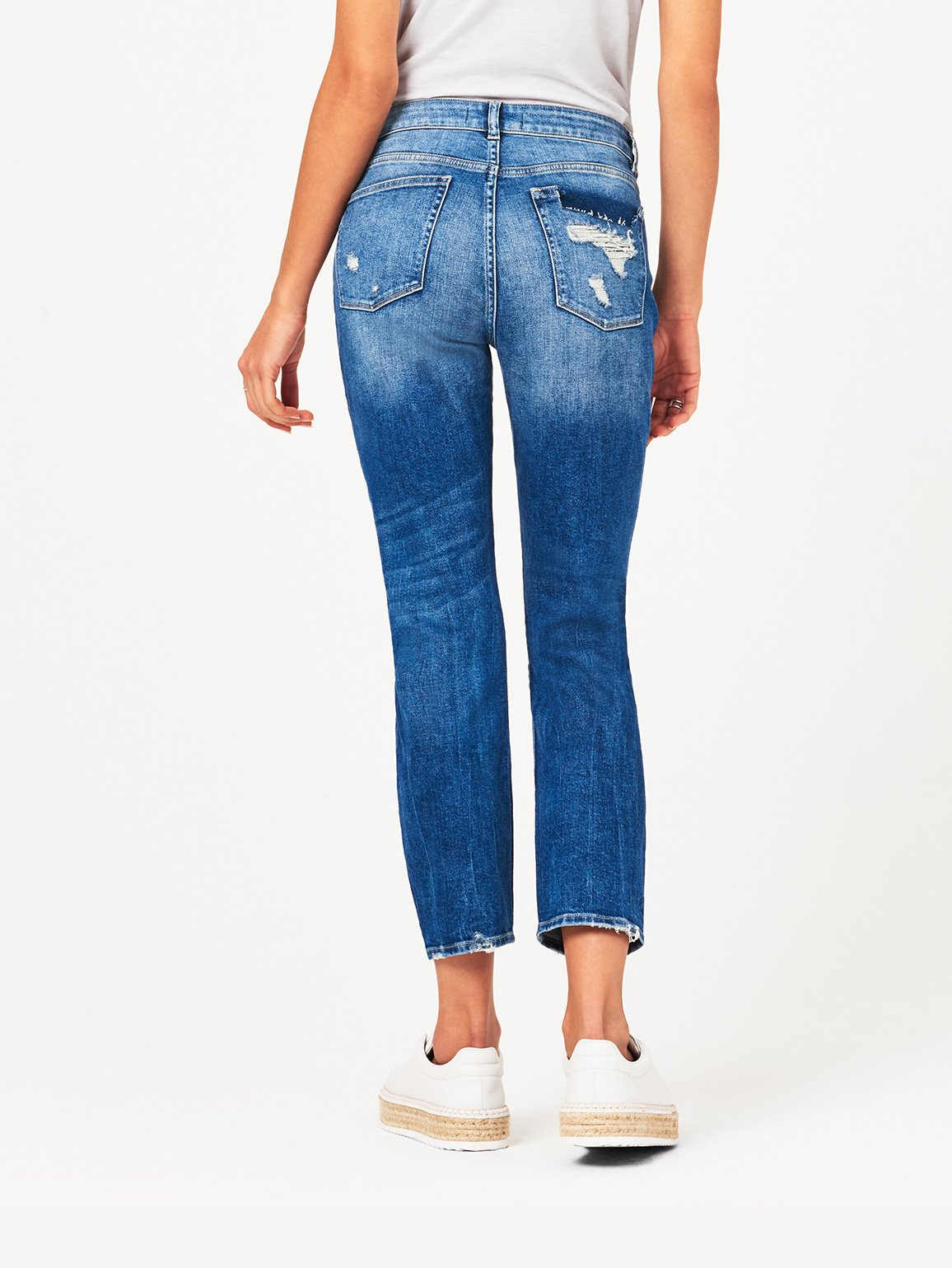 Stevie Mid Rise Slim Boyfriend | Rebel DL 1961 Denim