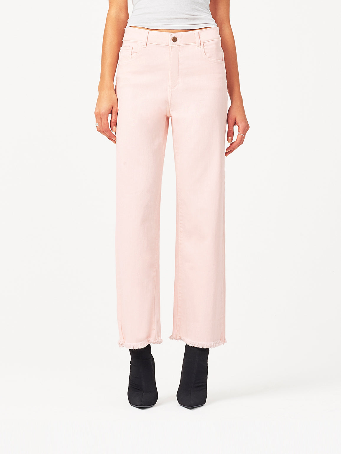 Hepburn High Rise Wide Leg | Blush Pink DL 1961 Denim