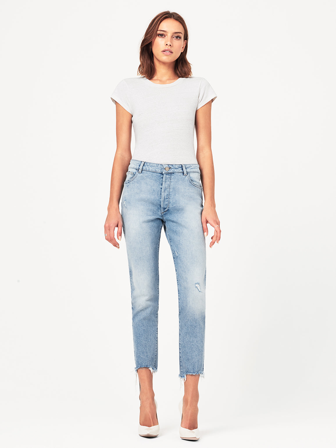 Bella Crop High Rise Vintage Slim | Super Bleach DL 1961 Denim