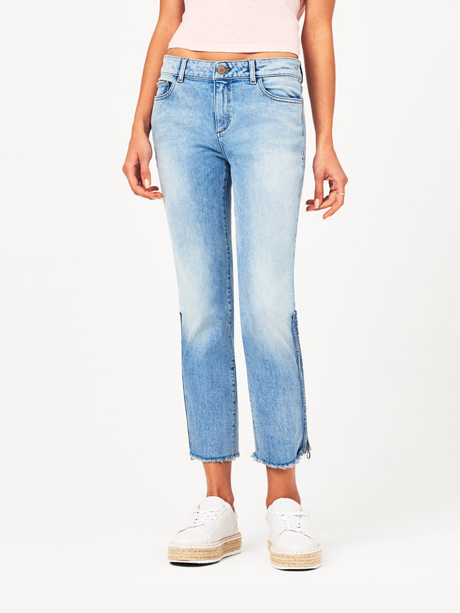 Mara Ankle Mid Rise Straight | Marina DL 1961 Denim