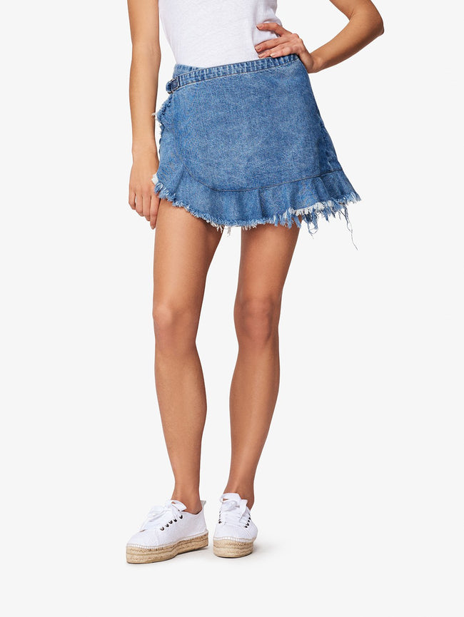 Hadley Skort Big Sur | DL1961 Premium Denim