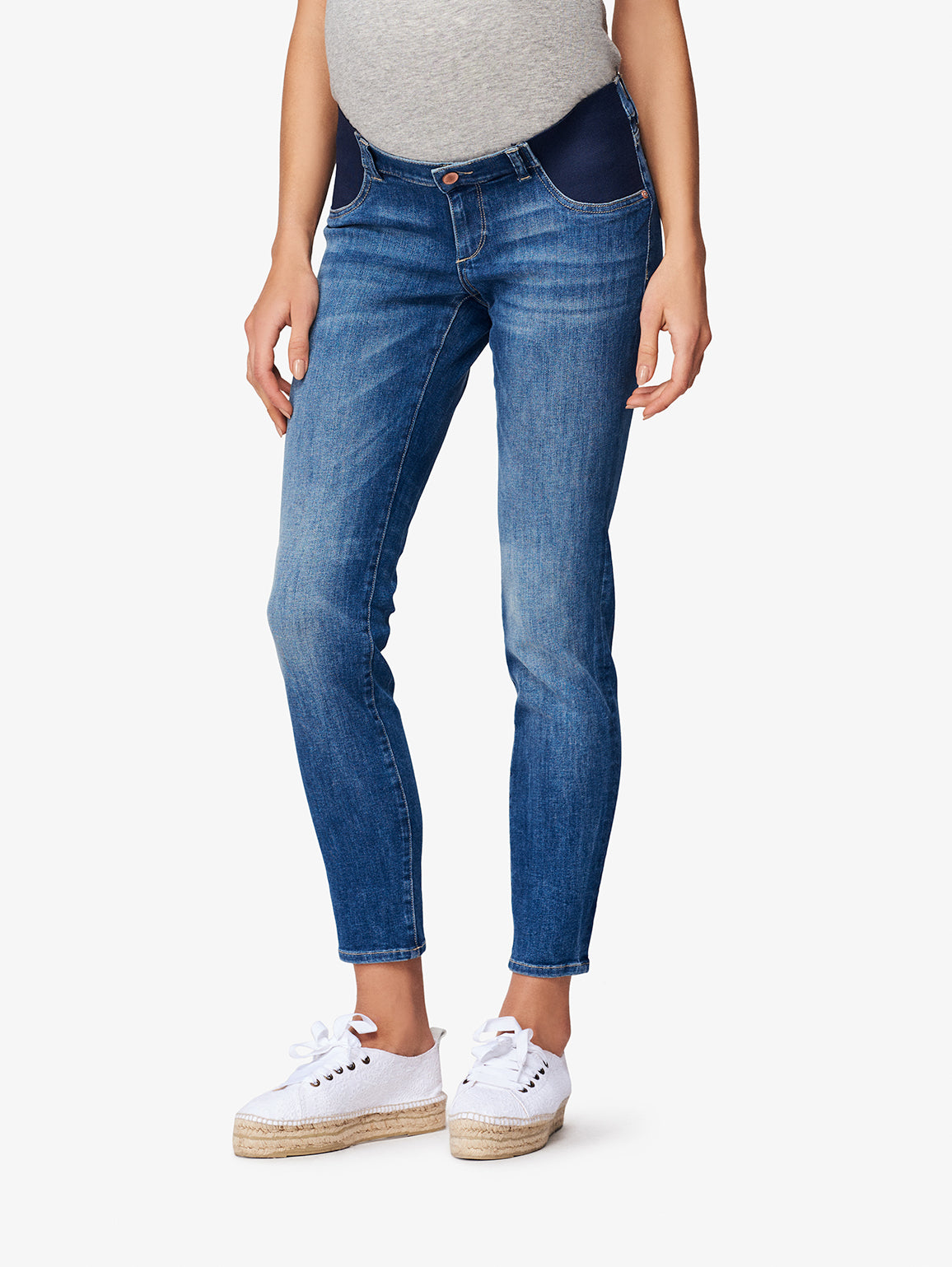 Image of Angel Mid Rise Maternity Skinny / Everglade