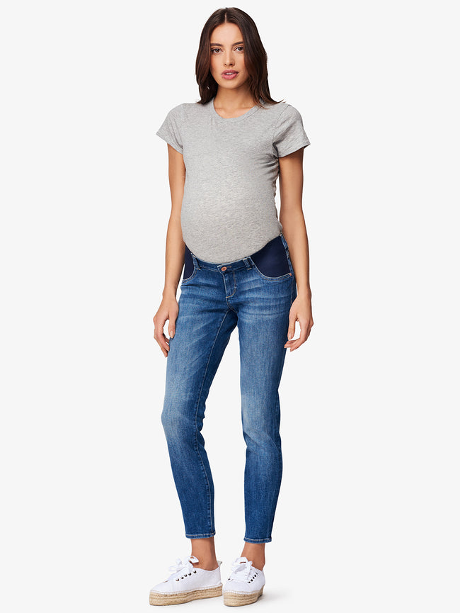 Angel Mid Rise Maternity Skinny Everglade
