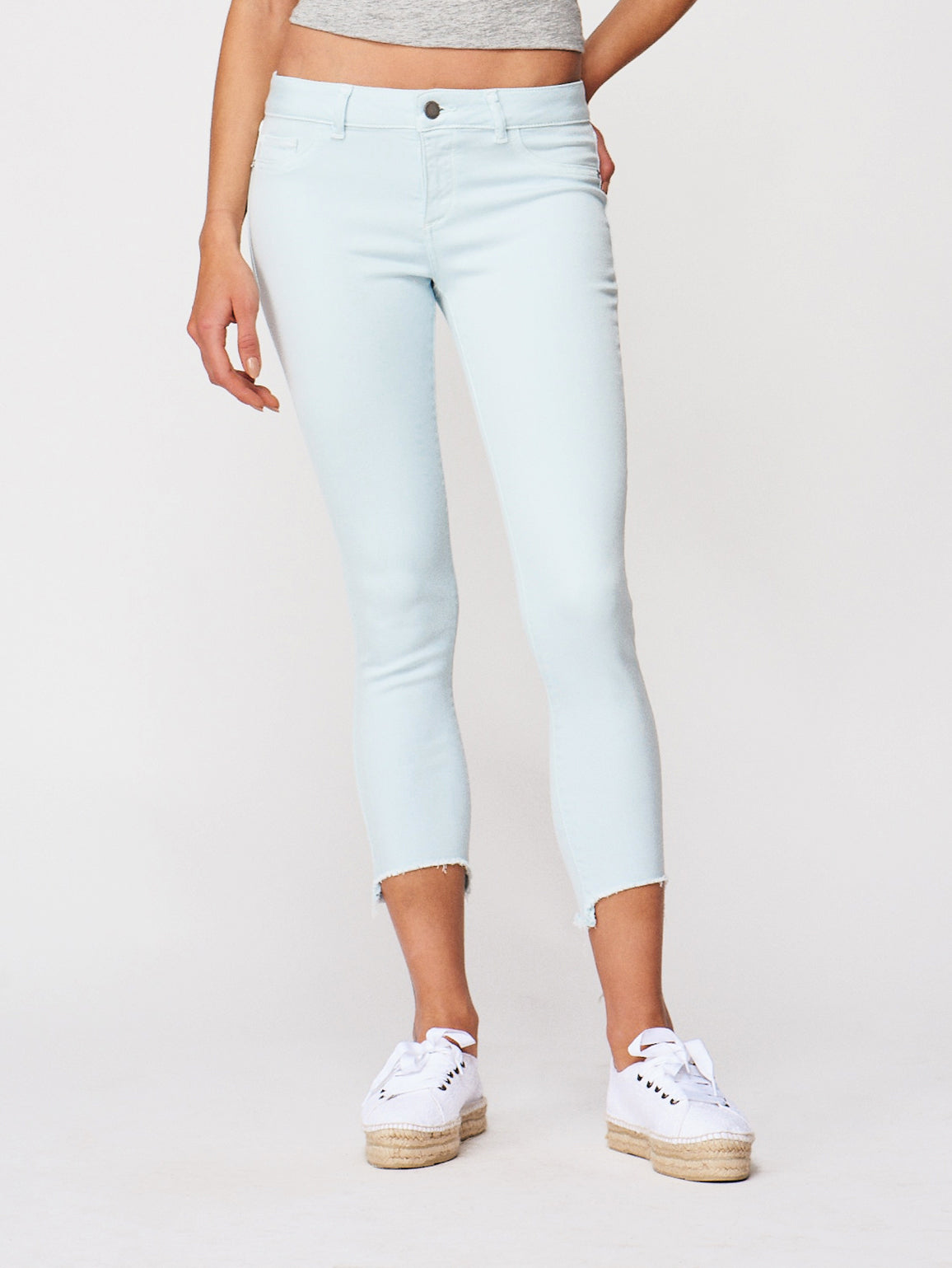 Image of Florence Crop Mid Rise Skinny / Sky