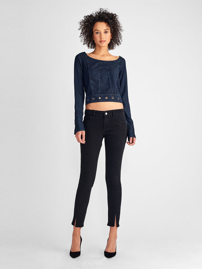 Margaux Mid Rise Ankle Skinny | Banks