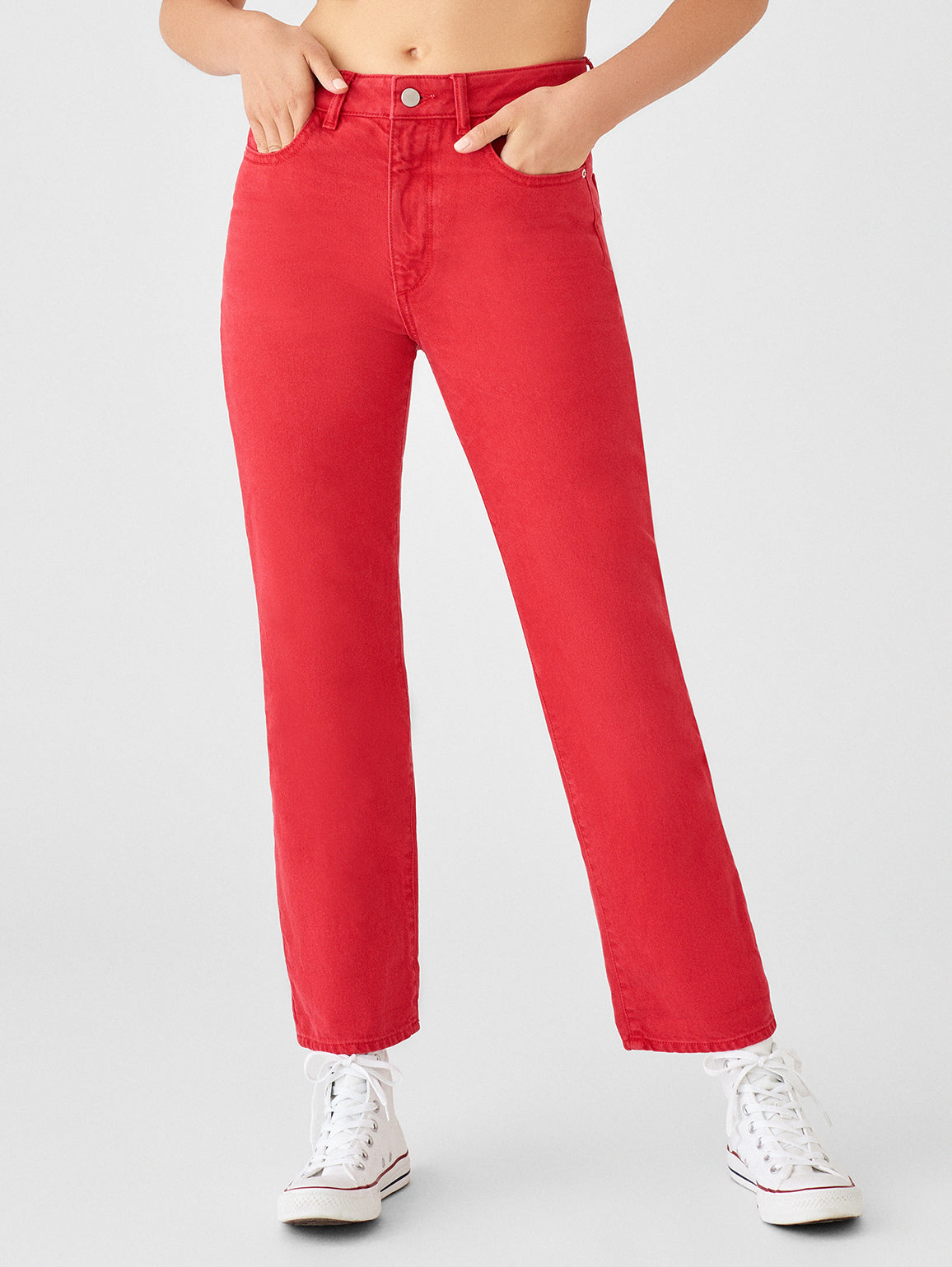 Women - Jerry High Rise Vintage Straight | Outlaw Red - DL1961