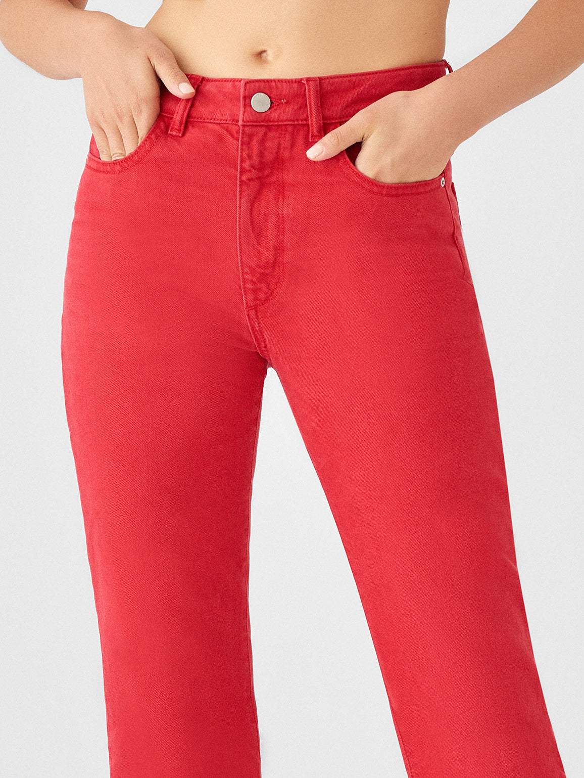 Jerry High Rise Vintage Straight | Outlaw Red