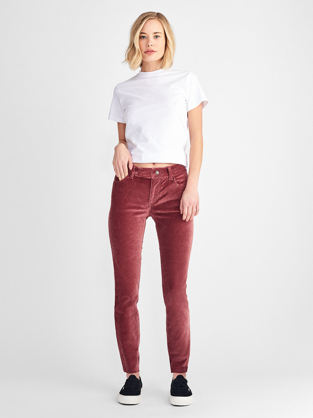 Margaux Mid Rise Ankle Skinny | Fervid