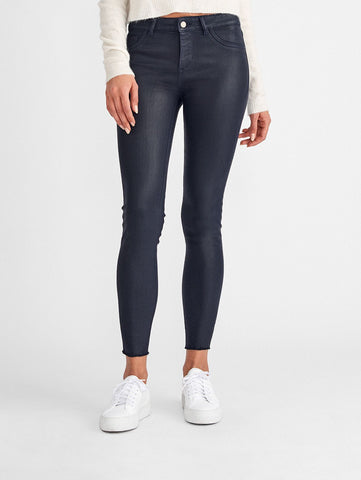 Florence Ankle Mid Rise Coated Skinny | Marin