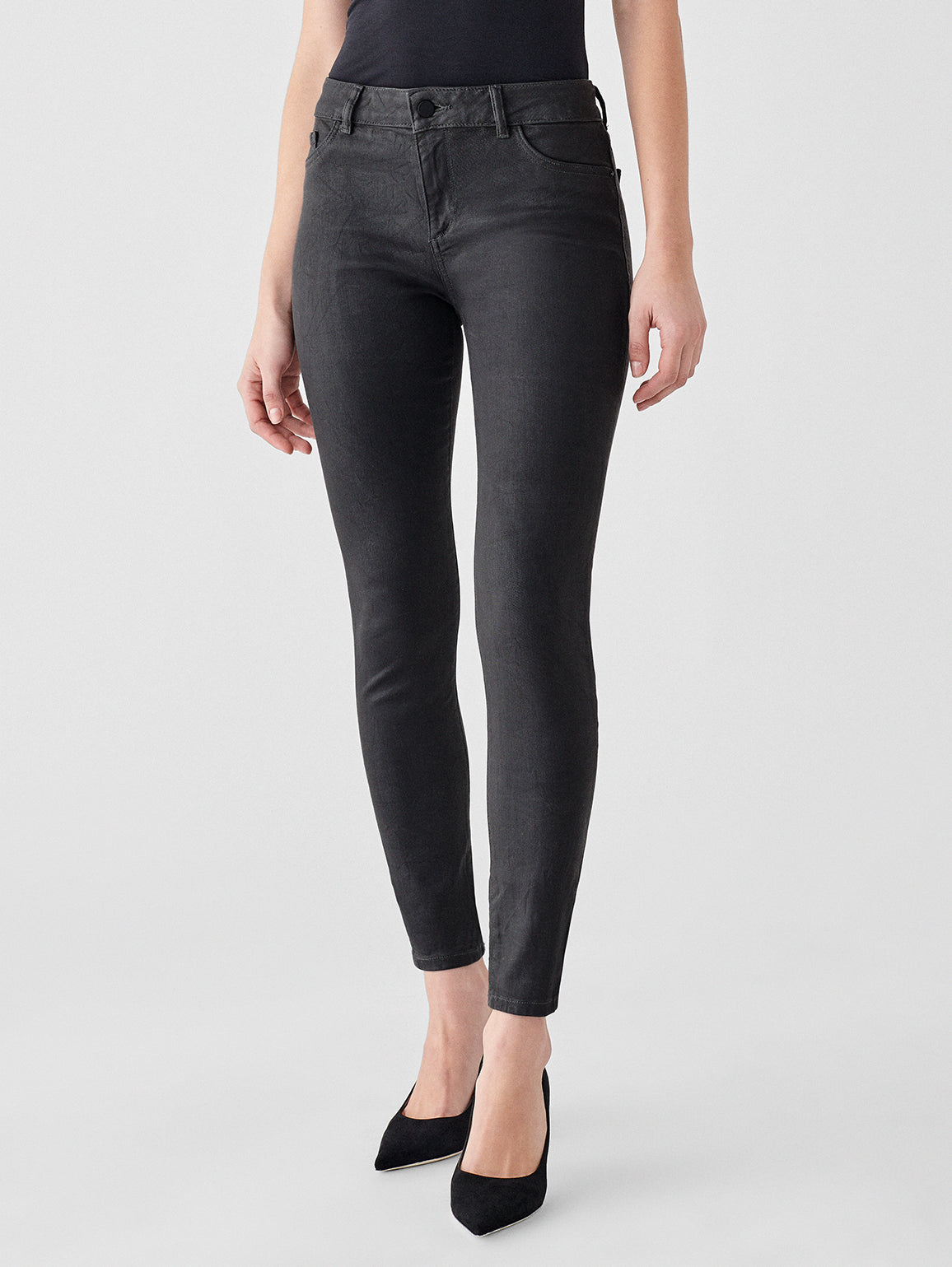 Florence Ankle Mid Rise Skinny | Pewter