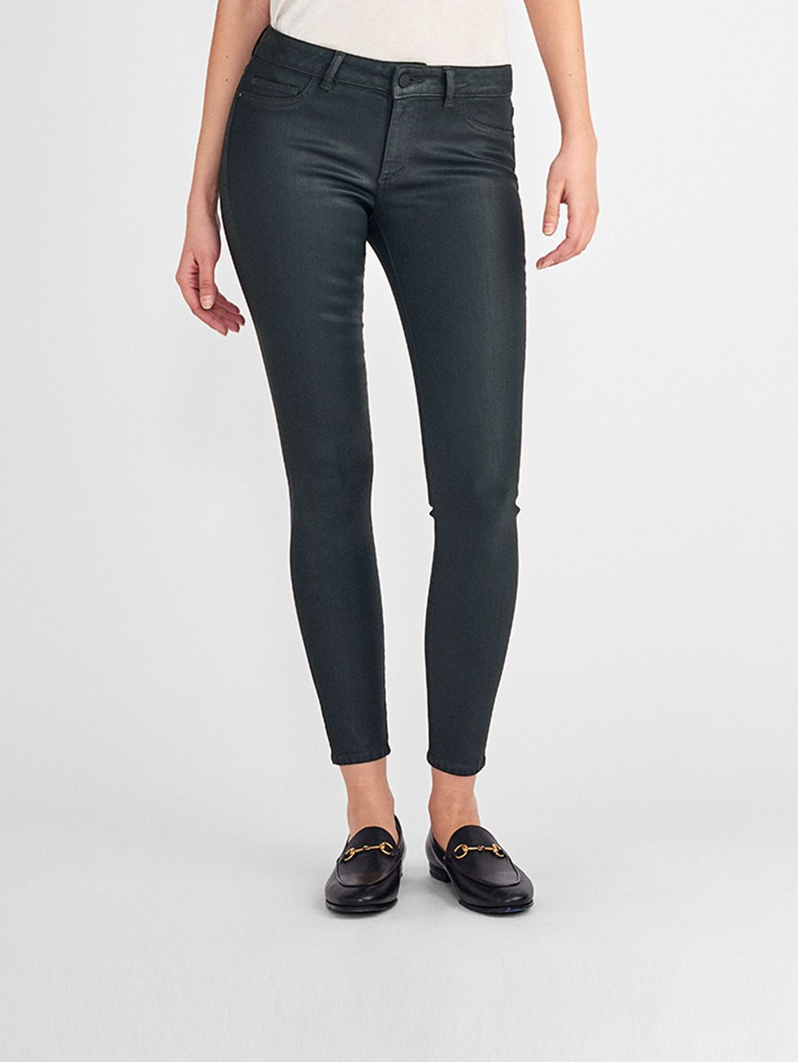 Emma Low Rise Coated Skinny | Ivy