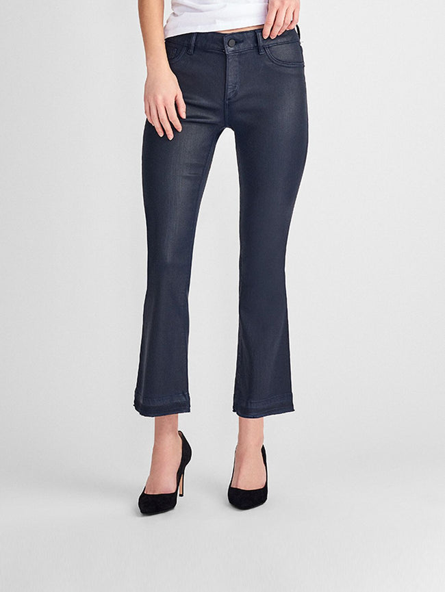 1a8624e0 Women - Lara Coated Mid Rise Cropped Flare | Marin - DL1961