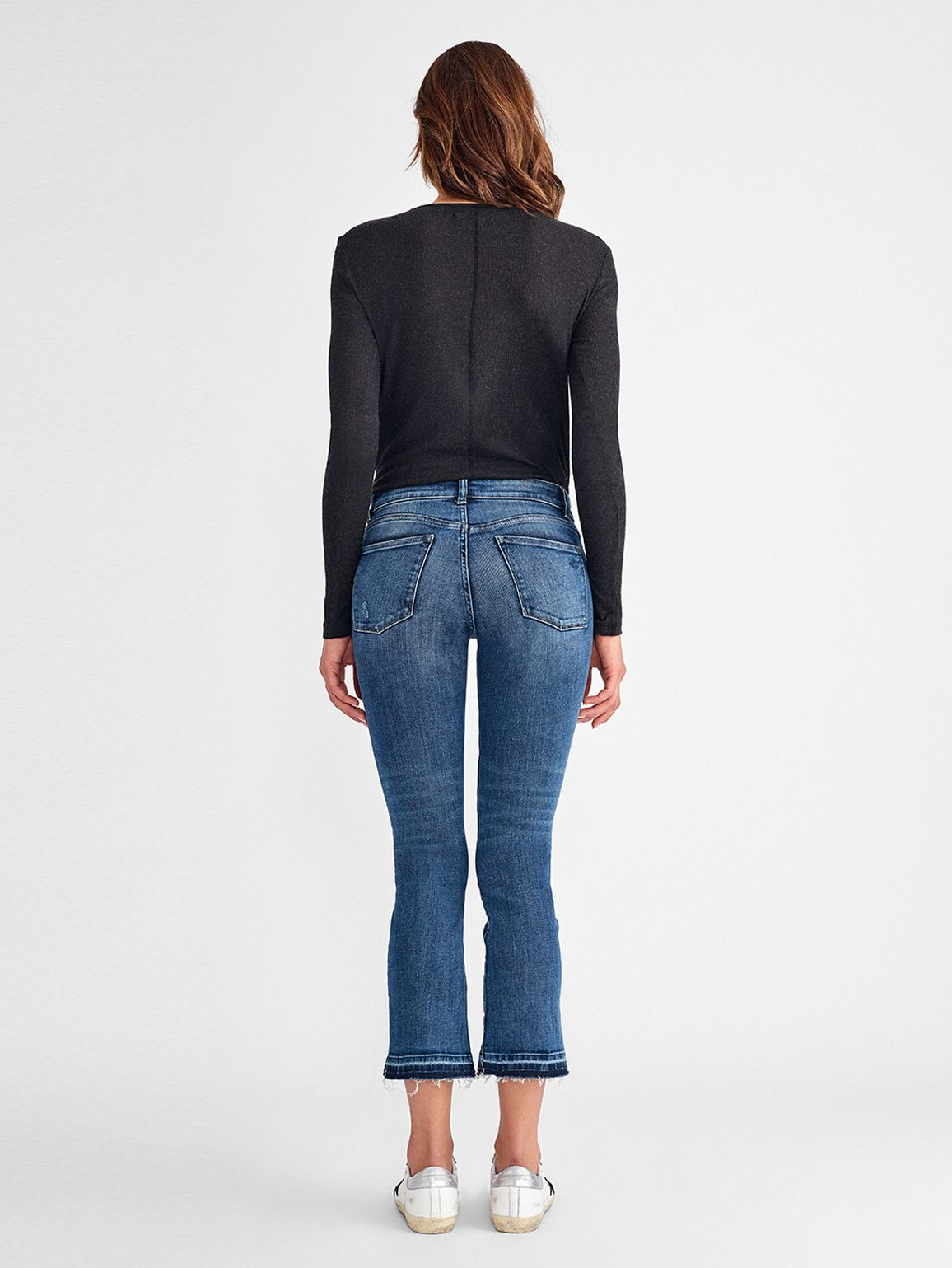 Women - Lara Mid Rise Cropped Flare | Alma - DL1961