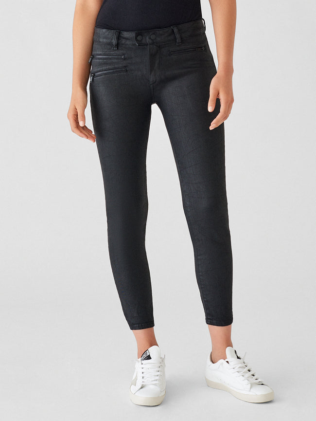 Women - Florence Crop Mid Rise Coated Skinny | Cage - DL1961