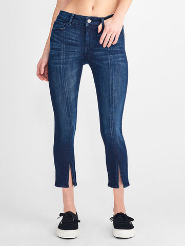 Florence Crop Mid Rise Skinny | Bluebell