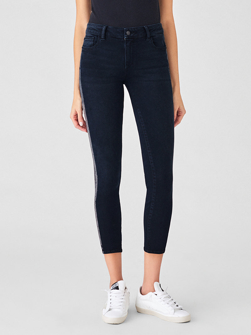 Florence Crop Mid Rise Skinny | Olive