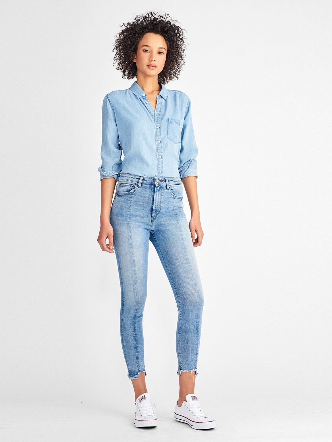 Women Top - Nassau & Manhattan Shirt | Midwash - DL1961