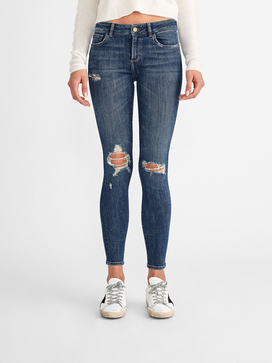 Florence Ankle Mid Rise Skinny | Mayfield