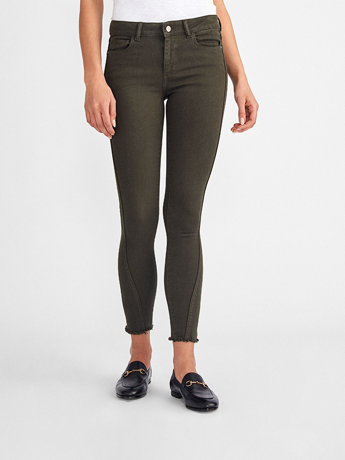 Margaux Mid Rise Ankle Skinny | Dark Olive