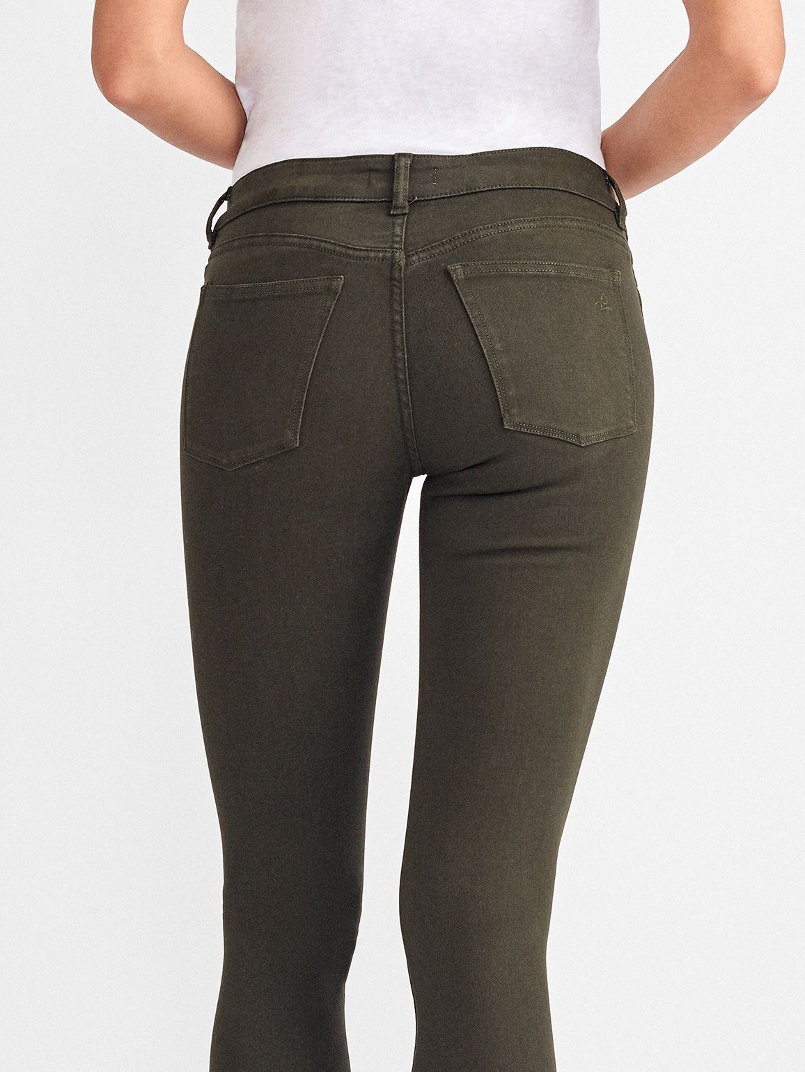 Women - Margaux Mid Rise Ankle Skinny | Dark Olive - DL1961