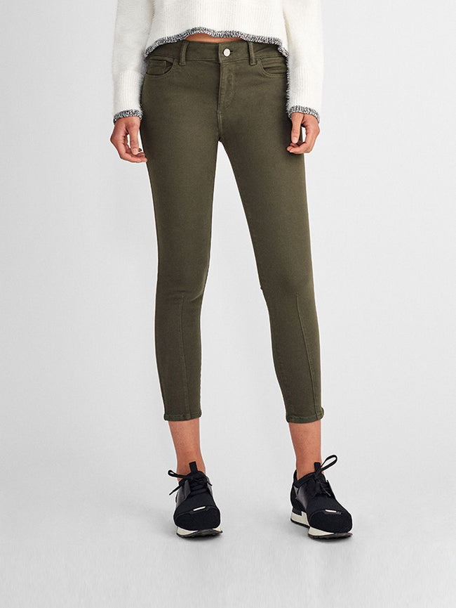 Women - Florence Crop Mid Rise Skinny | Olive - DL1961