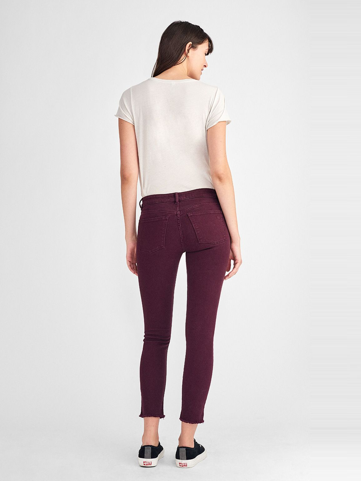 Women - Margaux Mid Rise Ankle Skinny | Deep Burgundy - DL1961