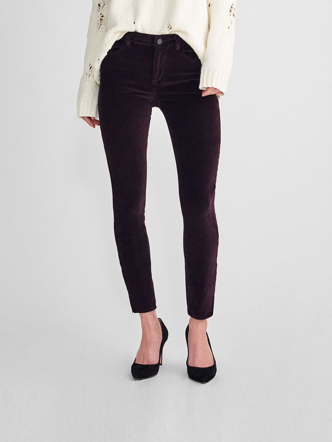 Women - Margaux Mid Rise Ankle Skinny | Dark Purple - DL1961