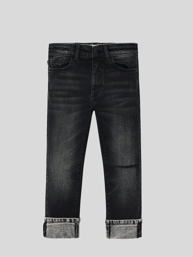 Boys - Washed-Out Black Denim - Hawke/B Skinny Argon - DL1961