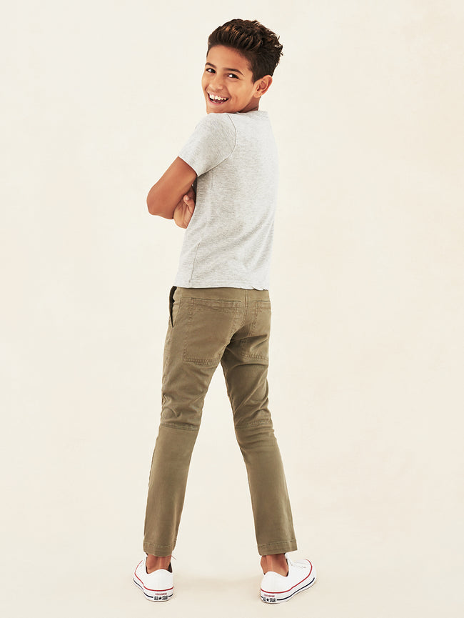 Boys - Slim Army Green Denim - Hawke/B Skinny Regime - DL1961