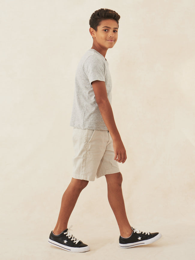 Boys - Drawcord Khaki Shorts - Jax/B Short Funny Bone - DL1961