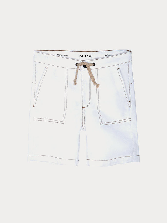 Boys - Drawcord White Short - Jax Short Indiana - DL1961