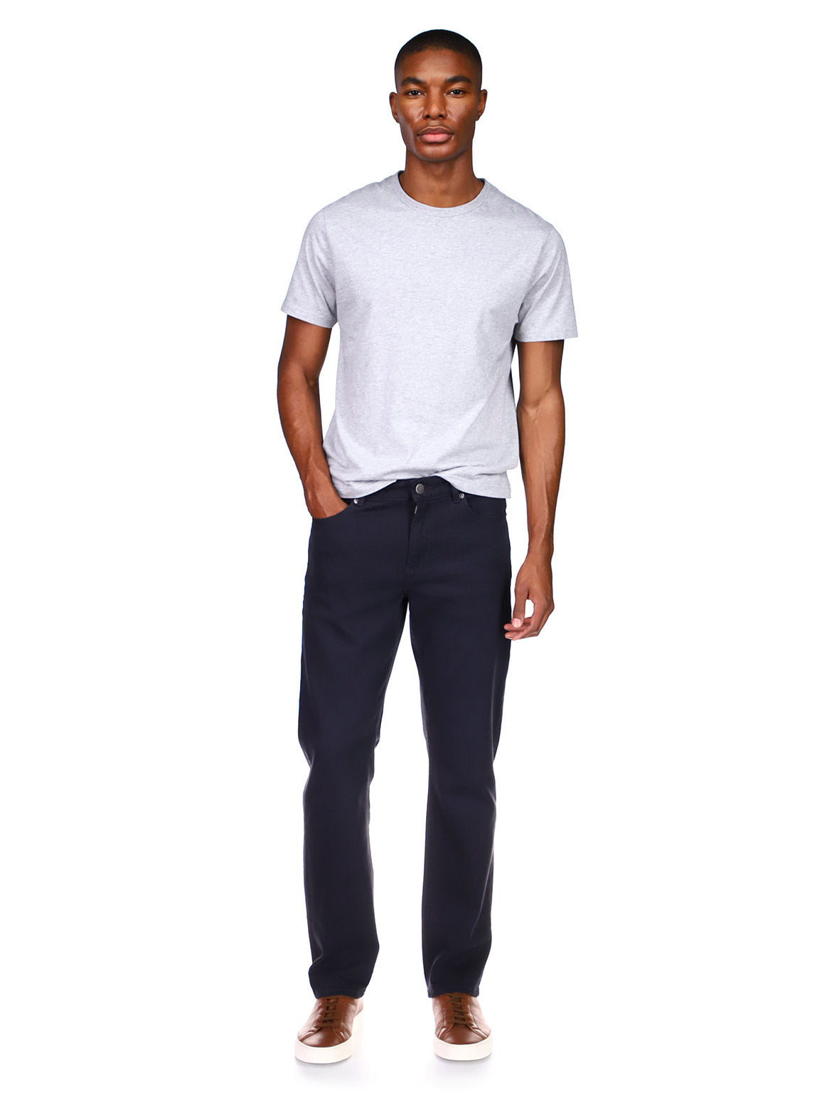 Avery Relaxed Straight | Press (Dark Indigo)