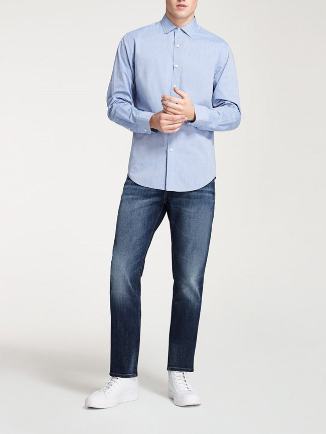 Men - Faded Blue Slim Denim - Cooper Relaxed Skinny Rifle - DL1961