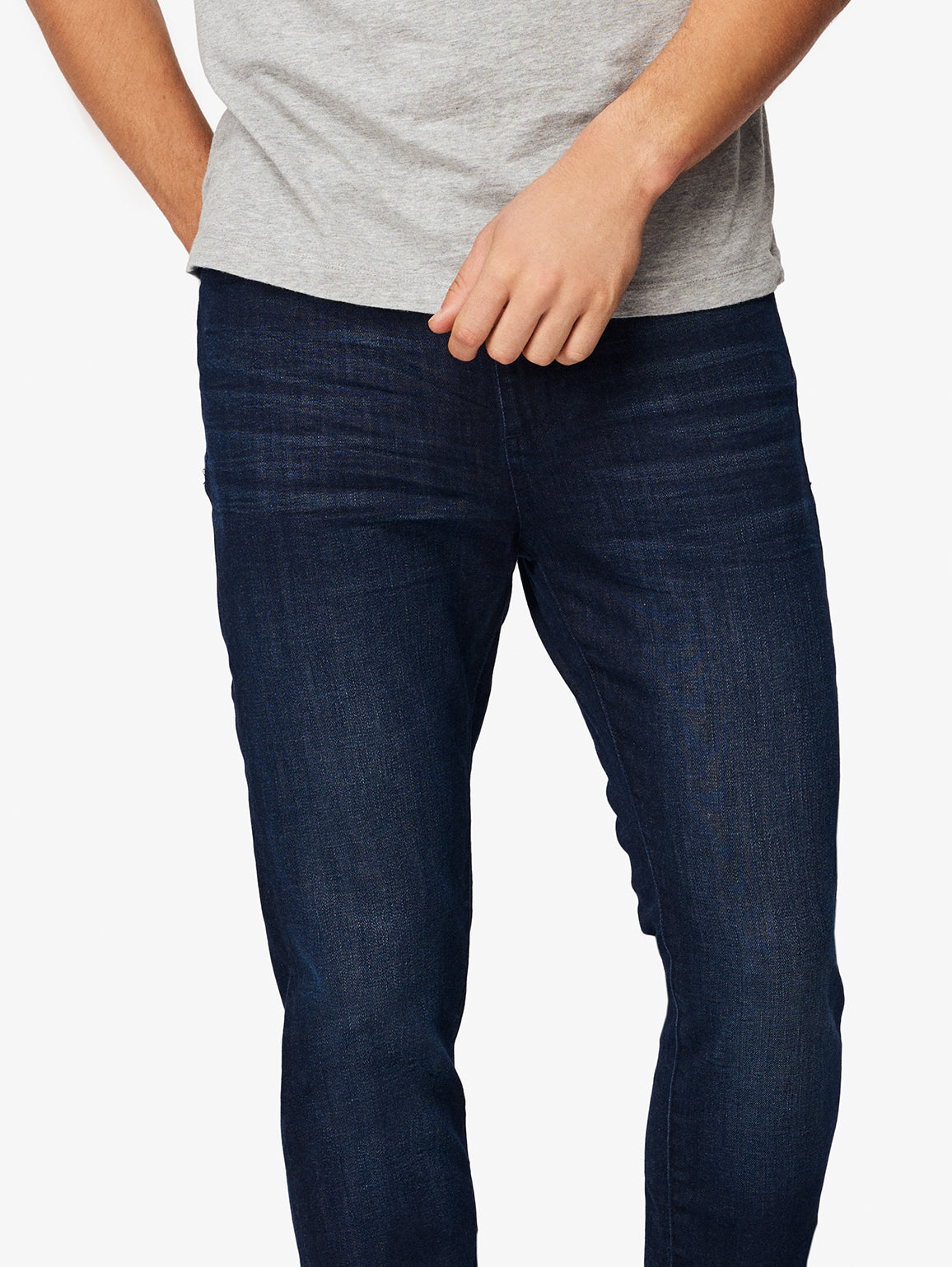 Men - Dark Blue Slim Denim - Cooper Tapered Slim Sepia - DL1961
