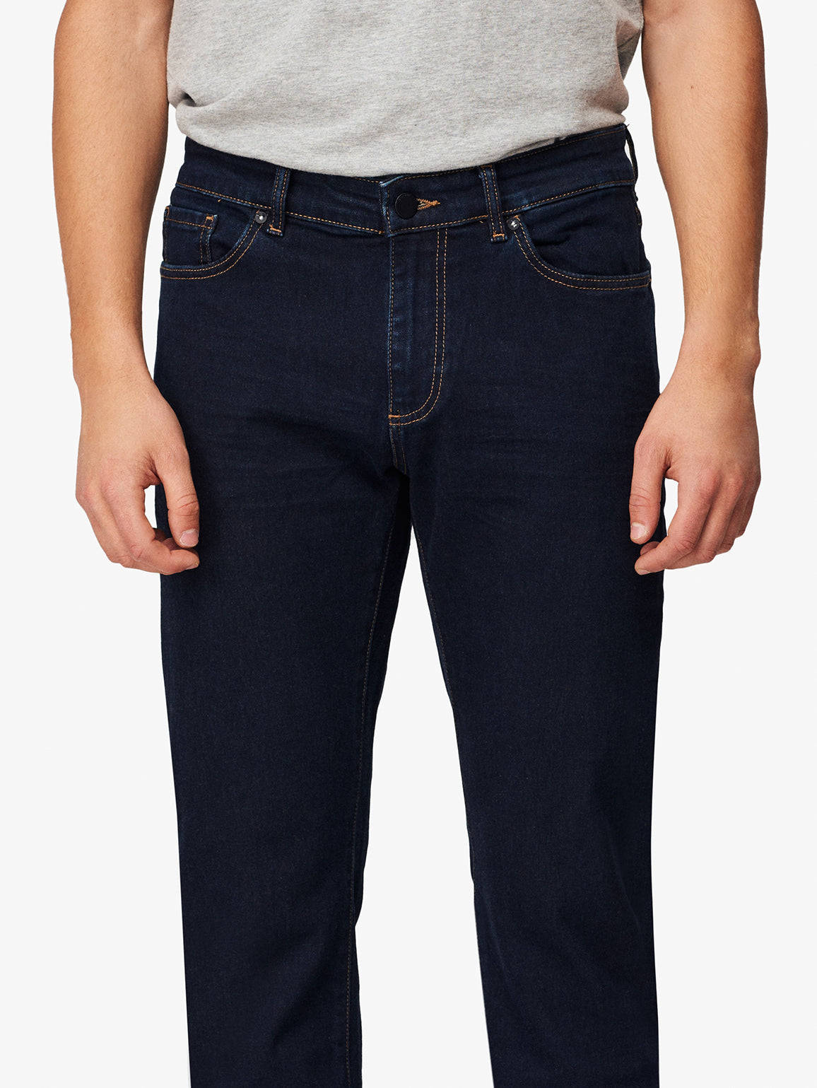 Men - Dark Blue Straight Denim - Avery Straight Prime - DL1961
