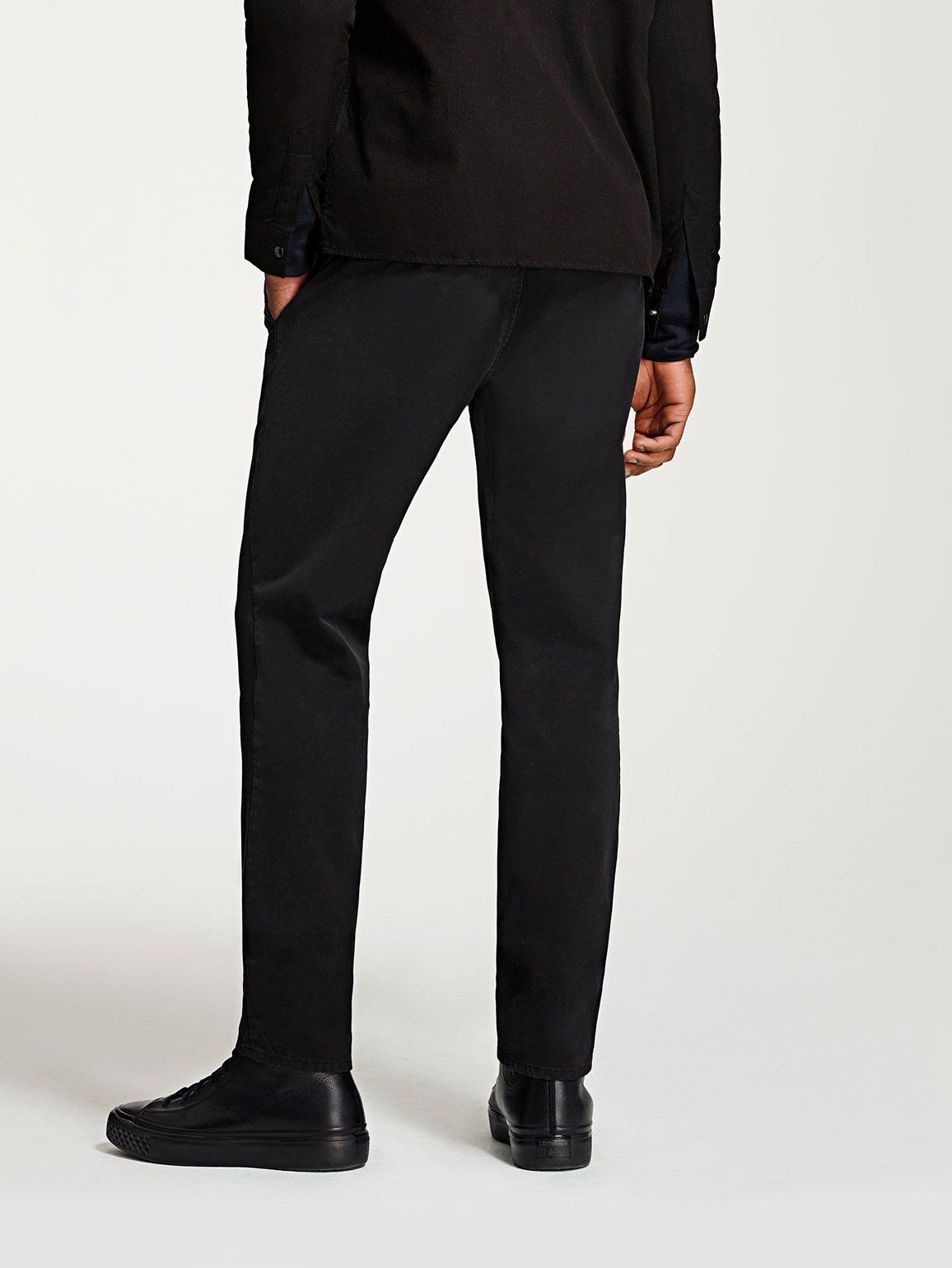 Men - Slim Black Chino - Duke Slim Chino Brace - DL1961