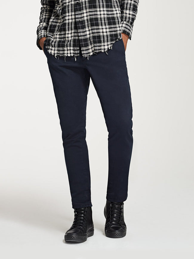 Men - Dark Navy Chino - Duke Slim Chino Bevel - DL1961