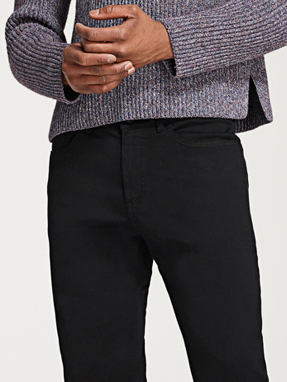 Men - Black Straight Denim - Avery Modern Straight Coal - DL1961