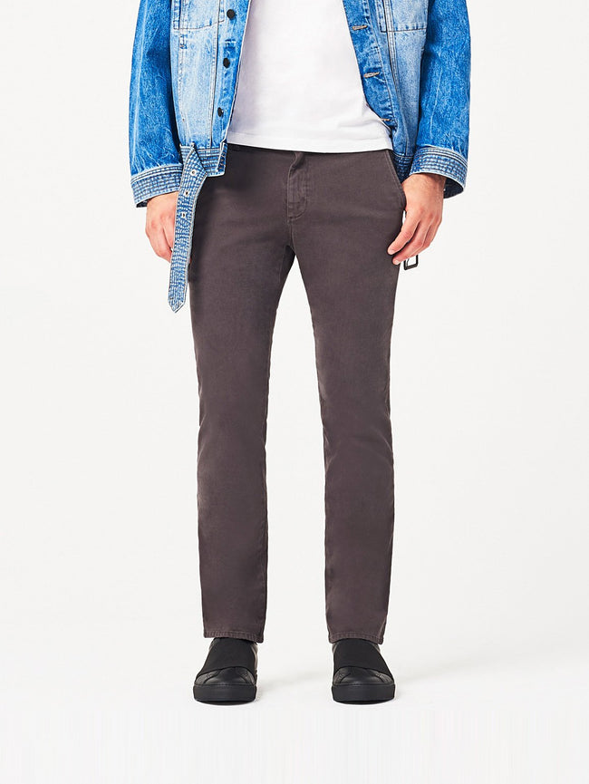 Men - Dark Grey Slim Chino - Duke Slim Chino Mortar - DL1961