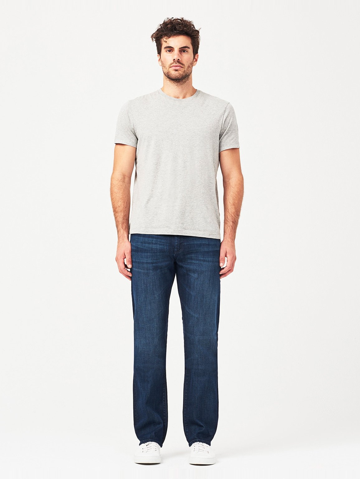 Men - Inky Blue Straight Denim - Avery Modern Straight Gravel - DL1961