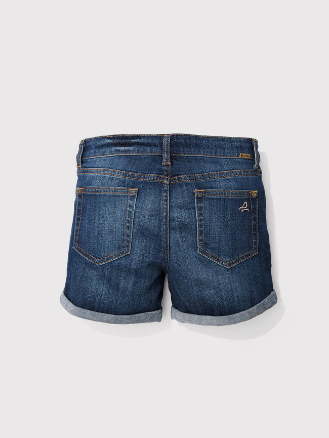 Girls - Blue Cuffed Denim Shorts - Piper/G Cuffed Short Sea-Lion - DL1961