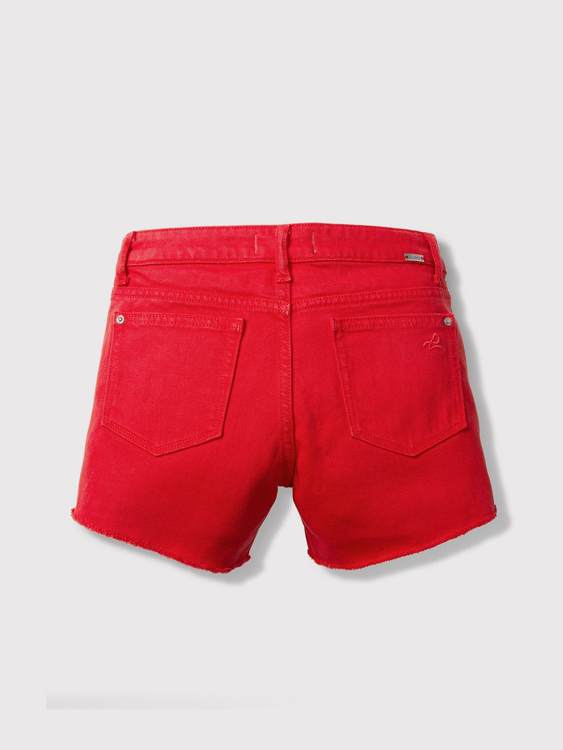 Girls - Bright Red Denim Shorts - Lucy/G Short Berry - DL1961
