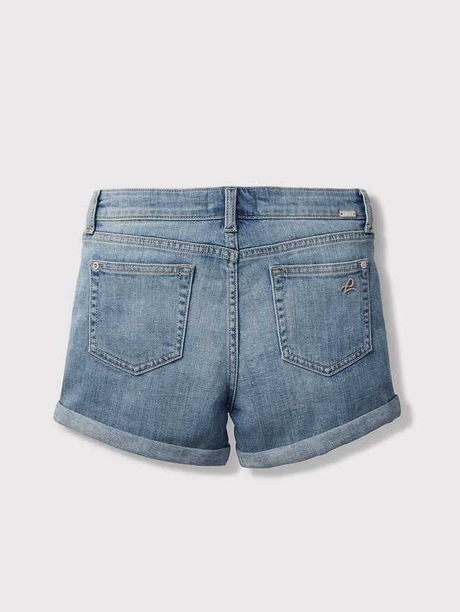 Girls - Faded Cuffed Denim Shorts - Piper/G Cuffed Short Granola - DL1961