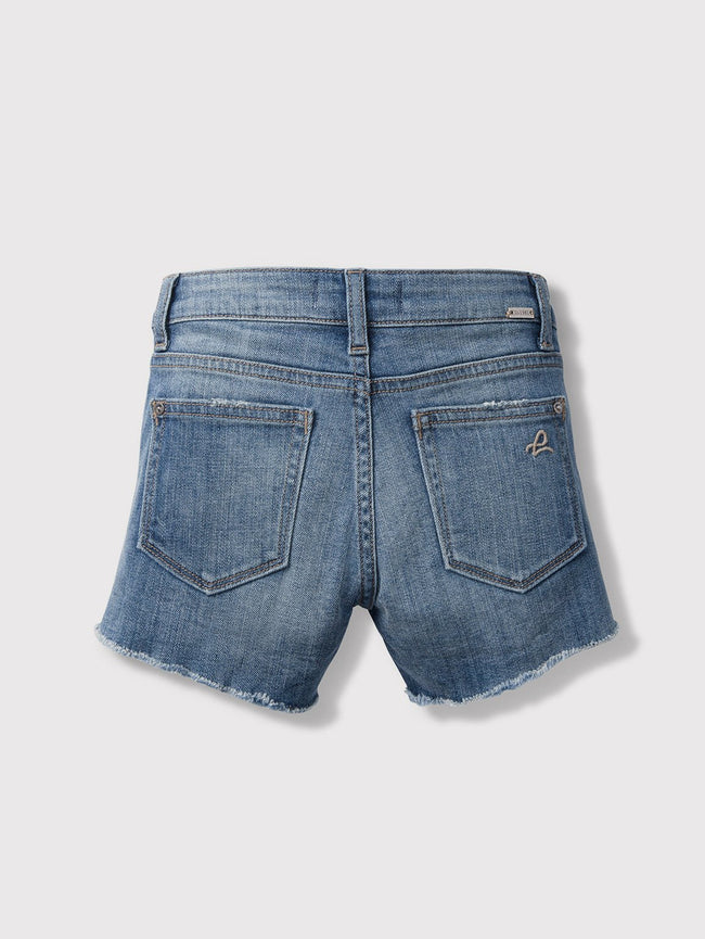 Girls - Faded Blue Denim Short - Lucy/G Short Sandcastle - DL1961