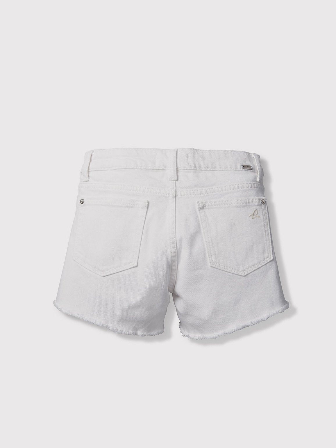 Girls - White Denim Shorts - Lucy/G Short Snowcap - DL1961