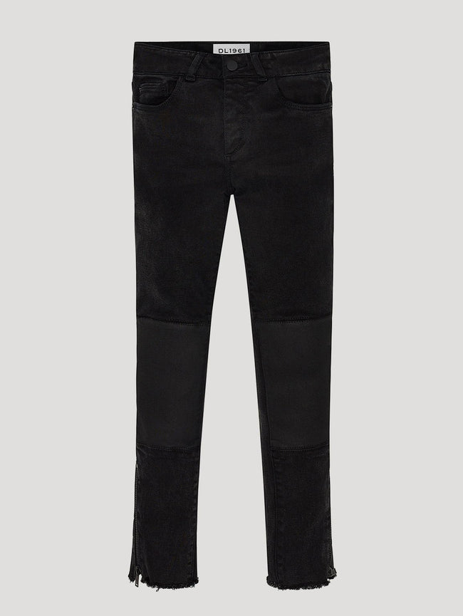 Girls - Black Knee Patched Denim - Chloe/G Ankle Roxanne - DL1961