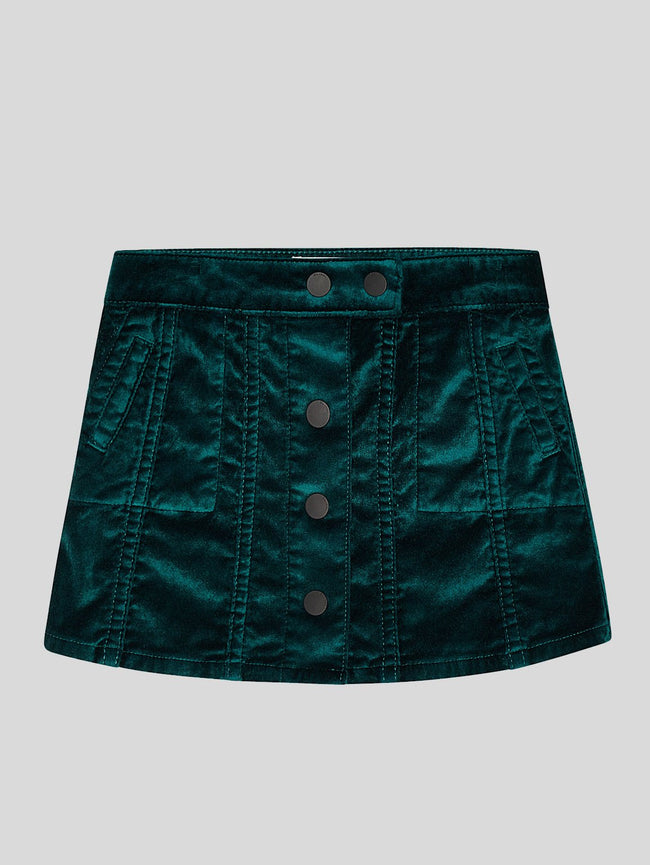 Girls - Jenny/G Skirt Green Velvet - DL1961