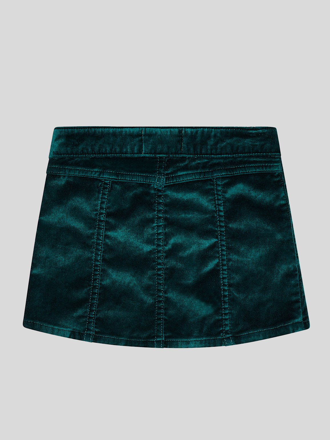 Girls - Emerald Velvet Skirt - Jenny/G Skirt Green Velvet - DL1961